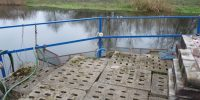 Miejsce przetrzymywania tarlaków wykonane z metalowej siatki
